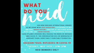 Session Four: Refugees in COVID-19