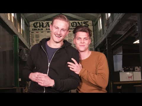 VIKINGS | Axe Throwing with Alexander Ludwig