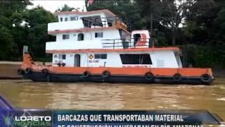 BARCAZA QUE TRANSPORTABA MATERIALES DE CONSTRUCCIÓN NAUFRAGA EN EL RÍA AMAZONAS