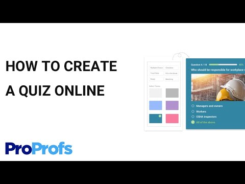 How to Create A Quiz In ProProfs Online Quiz Maker