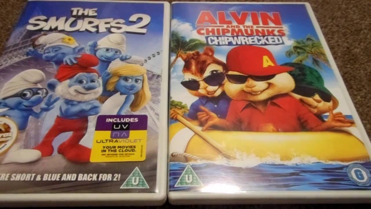 the smurfs 2 and alvin and the chipmunks chipwrecked uk dvd