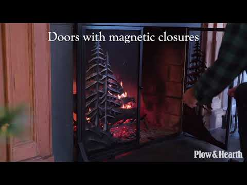 Alpine Fireplace Screen with Doors SKU# 66F25 - Plow & Hearth