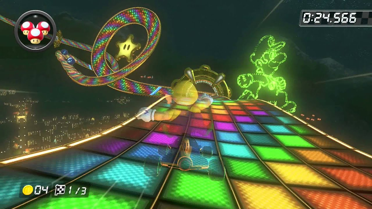 N64 Rainbow Road 1 20 527 Desire Mario Kart 8 World Record