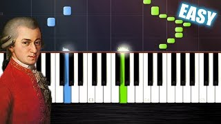Mozart - Turkish March (Rondo Alla Turca) EASY Piano Cover/Tutorial by PlutaX - Synthesia