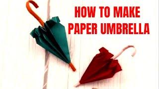 DIY HANDCRAFT: How To Make Paper 🌂 Umbrella| How To Make Paper Umbrella Open And Closes-Step by Step