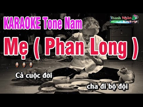 Mẹ  ( Phan Long )  Karaoke | Brat Chất Lượng Cao |  Nhạc Sống Thanh Ngân