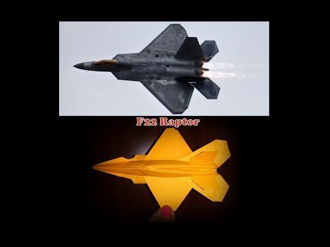 How to make paper model of f22 raptor- fighter aircraft (Most feared aircraft in the world).