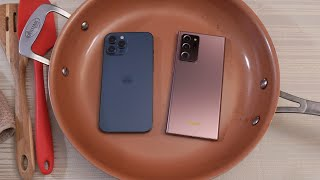iPhone 12 Pro Max vs Samsung Note 20 Ultra HOT WATER TEST! 🔥💧