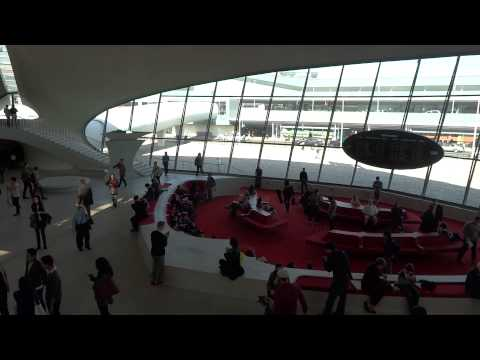 Inside old TWA terminal at JFK airport
