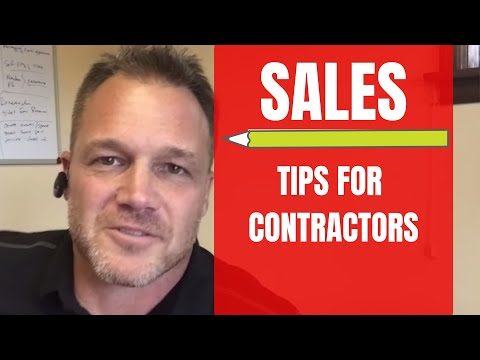 Contractor Business Tips: Sales Tips for Contractors