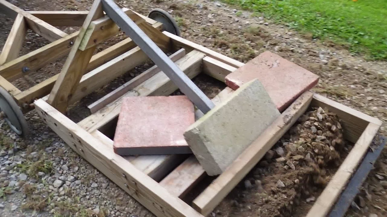 Homemade driveway grader for lawn or garden tractor