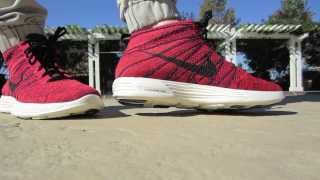 "Nike Lunar Flyknit Chukka ""Deep Burgundy"" (on feet)"