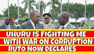 Uhuru Kenyatta is targetting me with the war on corruption, Ruto Declares in Mombasa