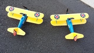 e flite umx pt 17 two pt 17 s flying formation on windy day 5 3 15
