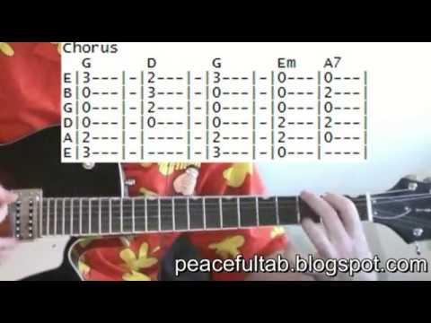 Eagles Peaceful easy feeling tab guitar lessons online