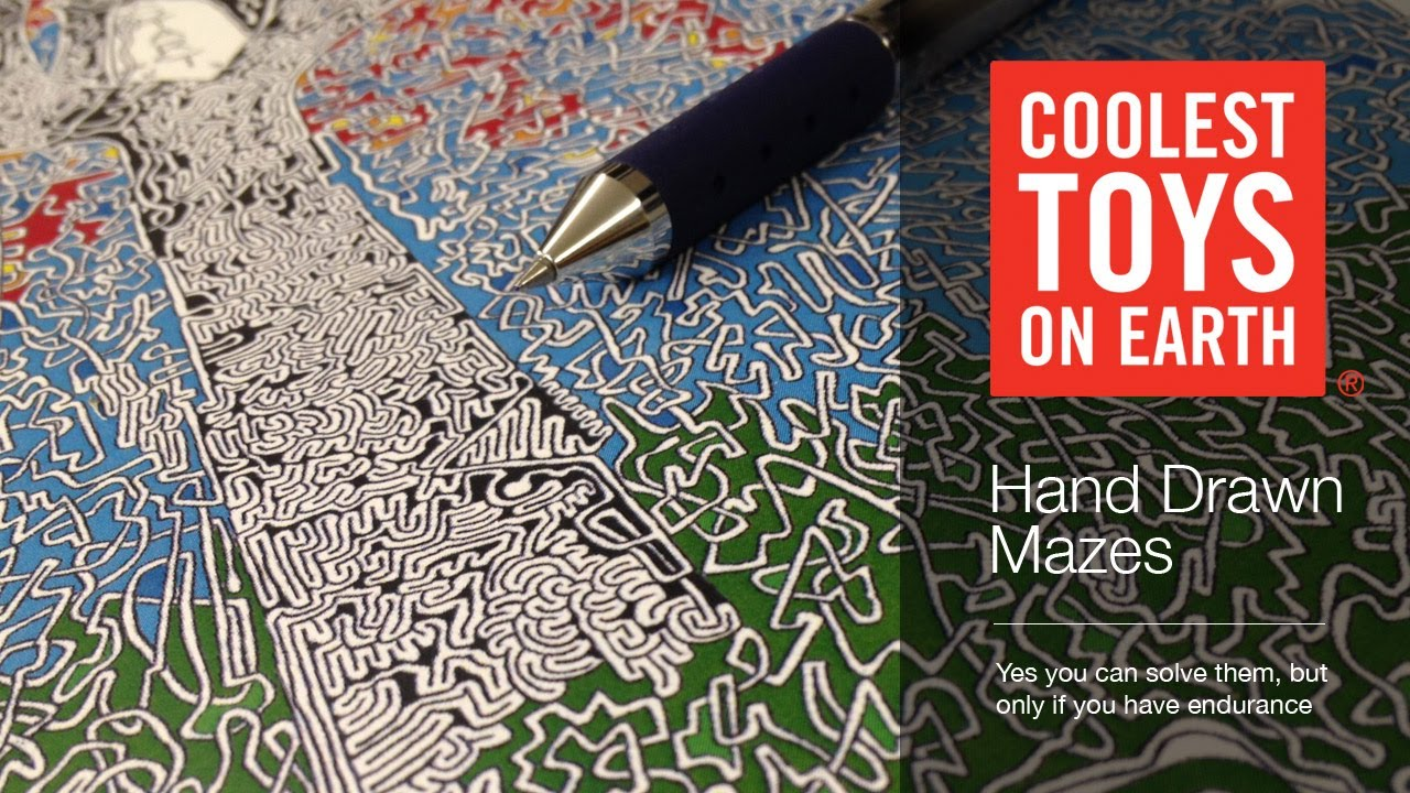 Coolest Toys On Earth : Hand drawn mazes coolest toys on earth cincinnati oh