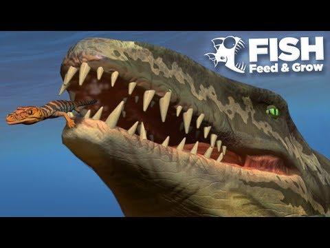 NEW AIGIALOSAURUS EATS MOSASAURUS!!! - Fish Feed Grow
