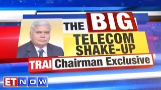 TRAI To The Rescue For Stressed Telcos? | R S Sharma, TRAI Chairman   ET NOW Exclusive Interview