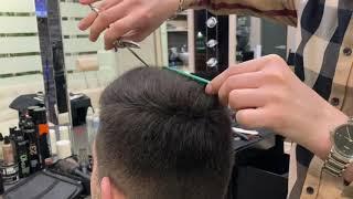 Как филировать волосы в мужской стрижке