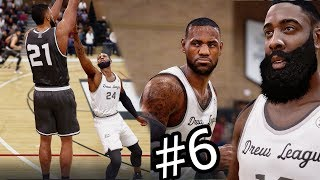 NBA Live 18 The One Career Mode - Intense Drew League Game vs LeBron and James Harden! Ep. 6