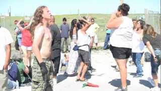 Lakota & Native Resistance March with Deep Green Resistance Lock Down in White Clay, NE (6.9.12)