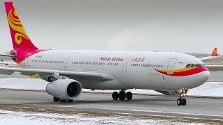 Hainan Airlines Old Livery Airbus A330-300 Arriving at Calgary Airport