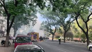 Carrinha a arder na Rua Castlho, em Lisboa (16/09/2019)