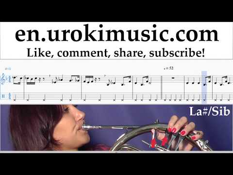 How to Play French Horn Star Wars - Imperial March Tabs Part#2 um-i352