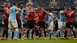 Man United VS Man City  Derby  Fights Fouls Red Cards
