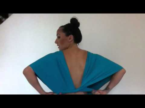 a879c8449263a Sleeve with Low Back - Lucy and Loo Convertible Dress - YouTube