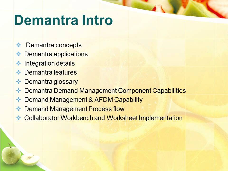 Oracle Demantra training oracle demantra course – Integration Worksheet