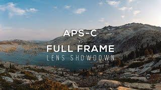 APS-C vs FULL FRAME lenses on your full frame SONY Camera.