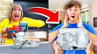 Destroying Morgz Diamond Play Button & Buying Him A New One...