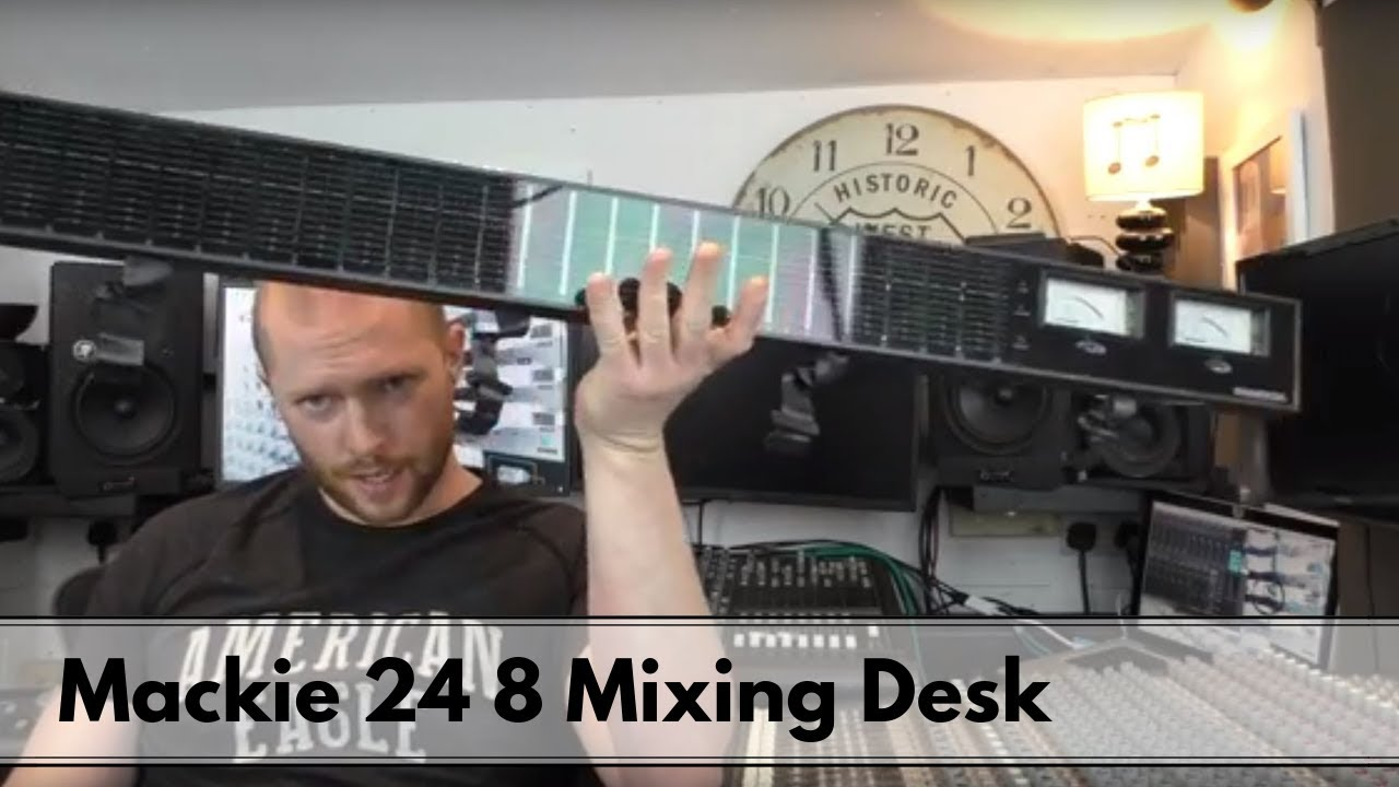i now have two mackie 24 8 mixing desks and a working meter bridge youtube. Black Bedroom Furniture Sets. Home Design Ideas