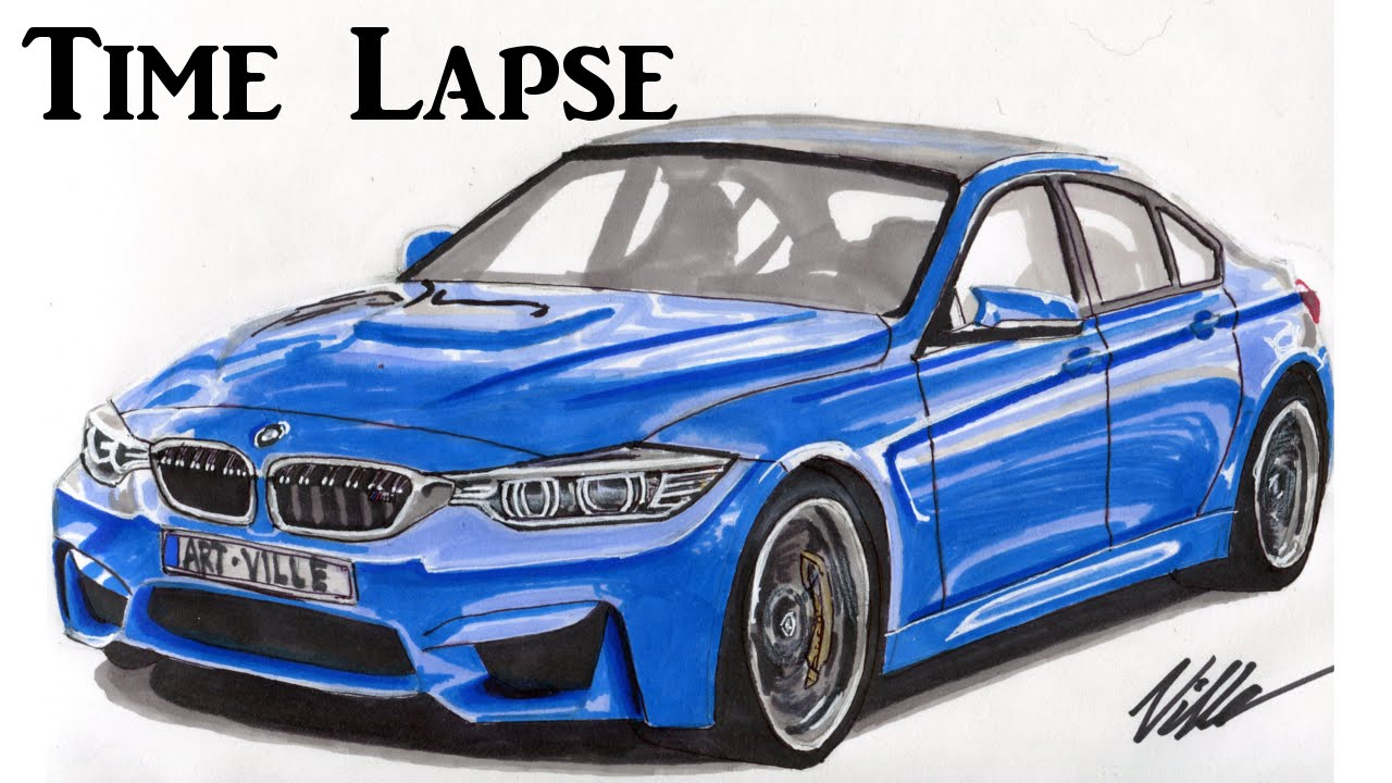 2015 bmw m3 drawing time lapse youtube