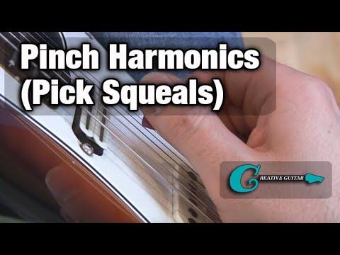 "Artificial Pinch Harmonics... a.k.a. ""Pick Squeals"""