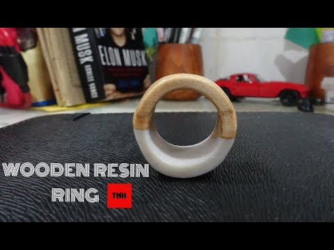 Wooden PEARL Resin Ring