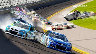 THE HUGE ONE (20+ WRECKED!) | Forza Motorsport 6 | NASCAR Expansion