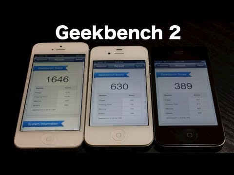 geekbench iphone 3gs ios 6