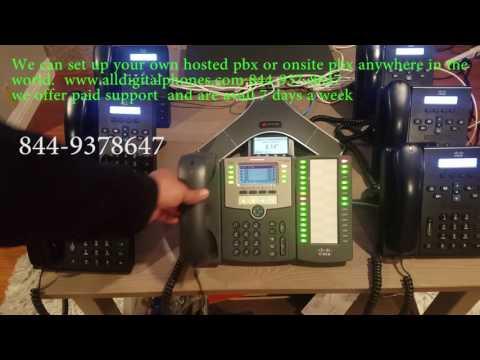 Receptionist Asterisk Freepbx Elastix training Cisco SPA 504g, 508g 303, linksys 942, 962 Sip 500s