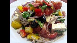 Лёгкий и полезный овощной салат с сыром Фета 🧀.