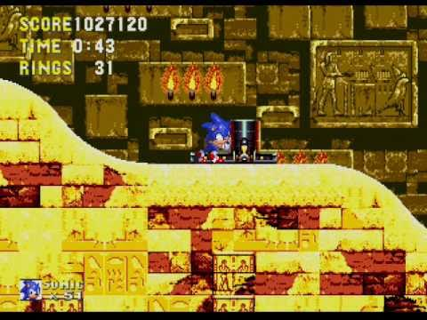 Sonic 3 - No Hit Run - Sandopolis Zone Act 2