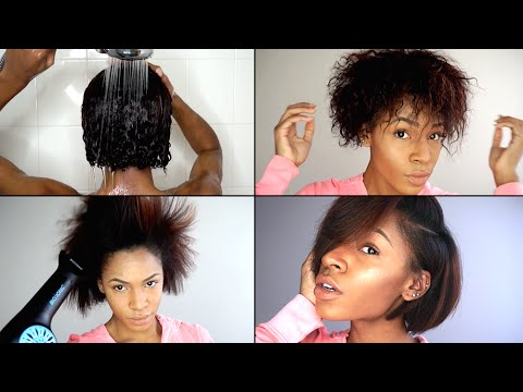 flat iron styles for short african american hair wash out amp flat iron routine for hair 3765 | hqdefault