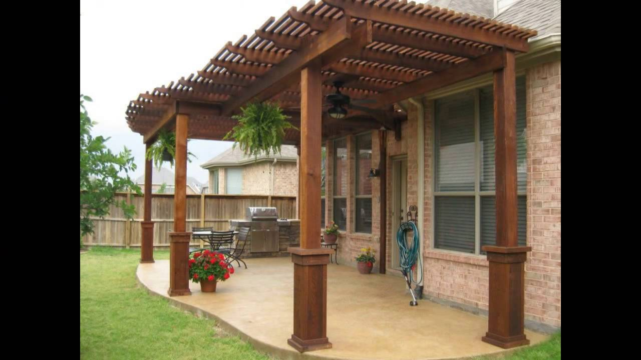 Patio Cover Designs  Wood Patio Cover Designs  Free Standing Patio Cover Designs  YouTube