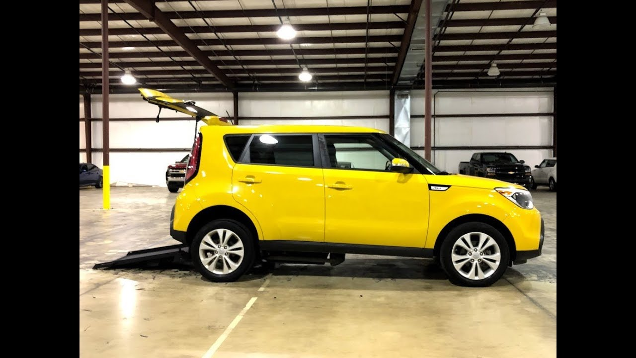 388fb94c6c 2014 Kia Soul Bright Yellow Freedom Motors USA Mobility Wheelchair ...