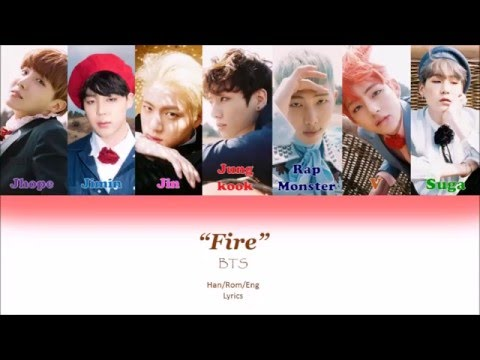 BTS  Fire Color Coded lyrics HanRomEng