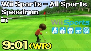 Wii Sports (All Sports) Speedrun in 9:01 (World Record - July 21st / 2018)