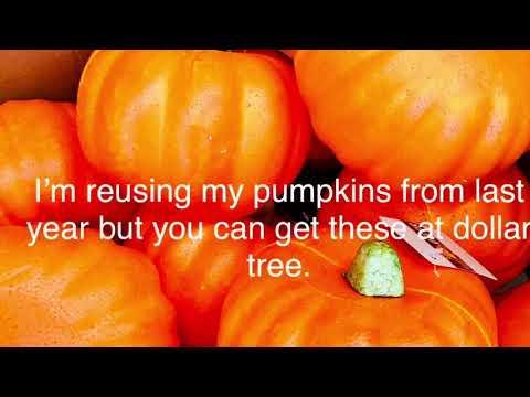 DIY fabric Pumpkins