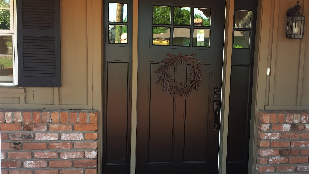 Front Door With Side Panel Youtube