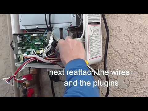 Eccotemp tankless water heater repair. Replacement of computer board and flow sensor